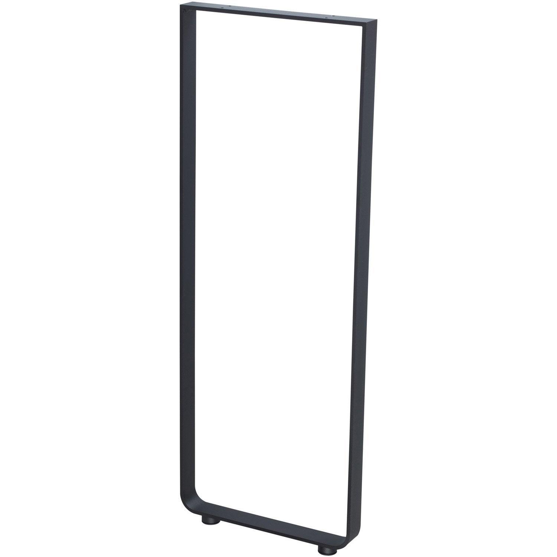 Pied aluminium noir 110 x 40 cm leroy merlin - Pied telescopique leroy merlin ...