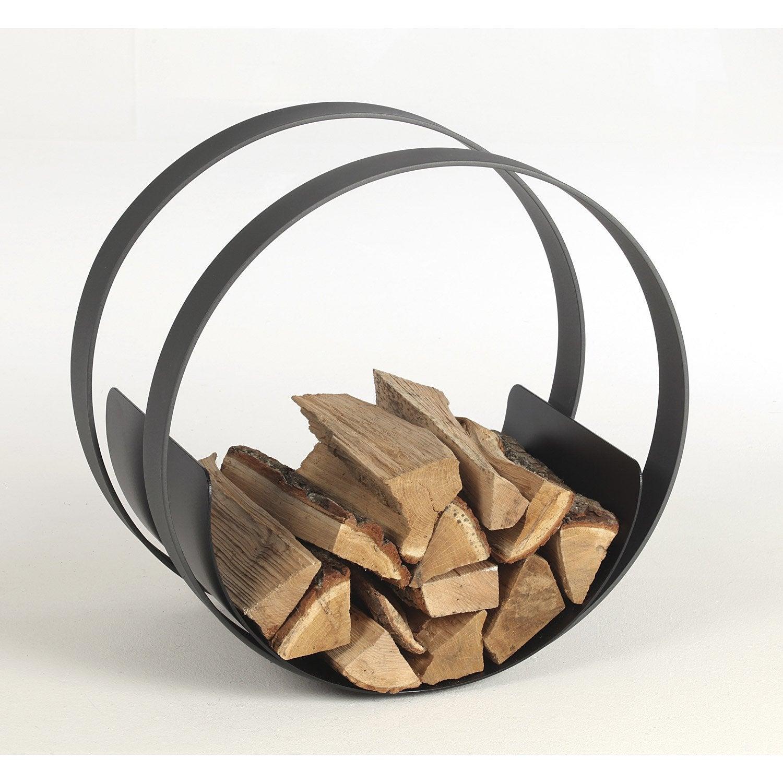 Rangement pour bois acier gris et noir atelier dix neuf for Rangement pour bois exterieur