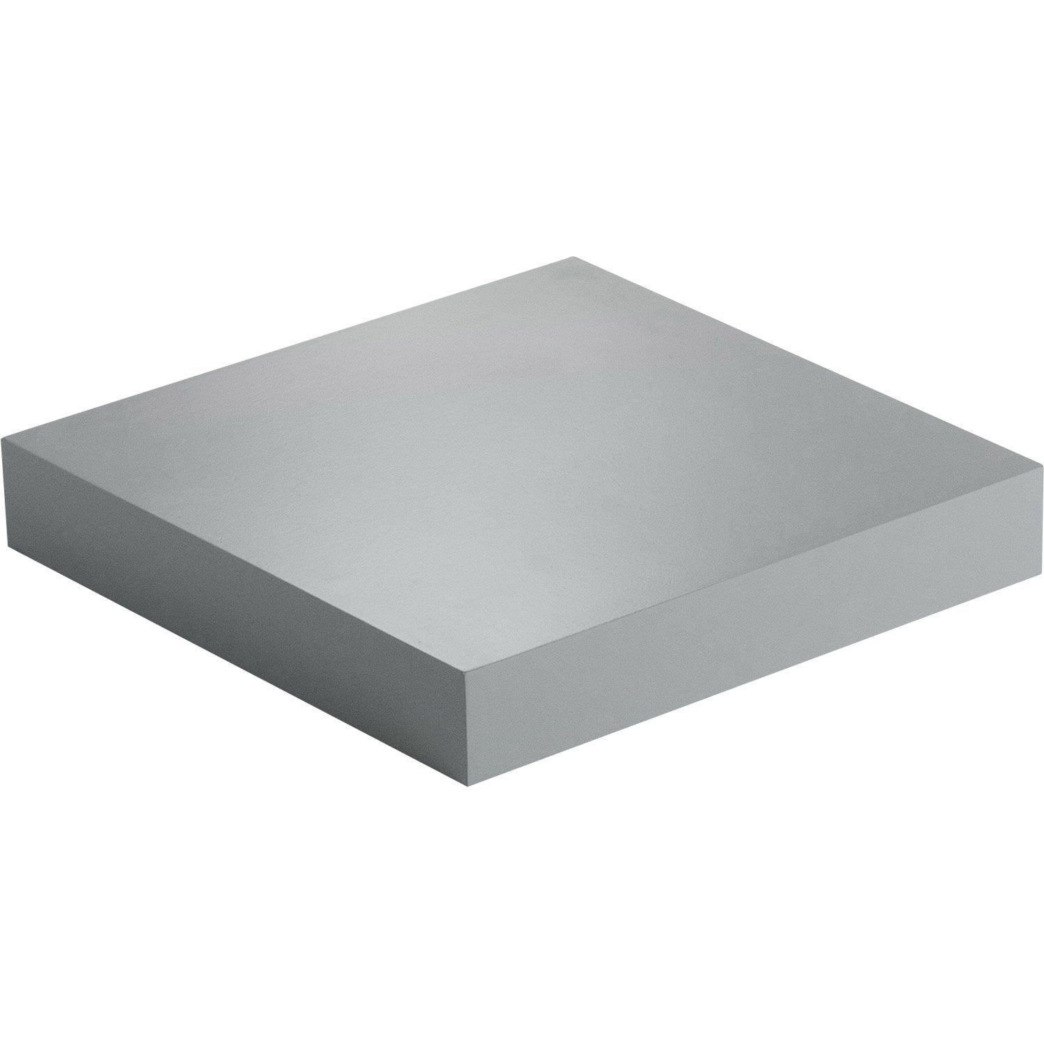 Etag re murale gris color spaceo l 23 5 x p 23 5 cm p for Petite tablette