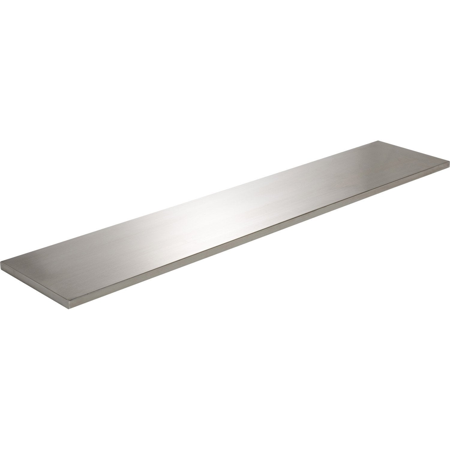 Etag re murale inox x cm mm leroy merlin for Etagere inox salle de bain