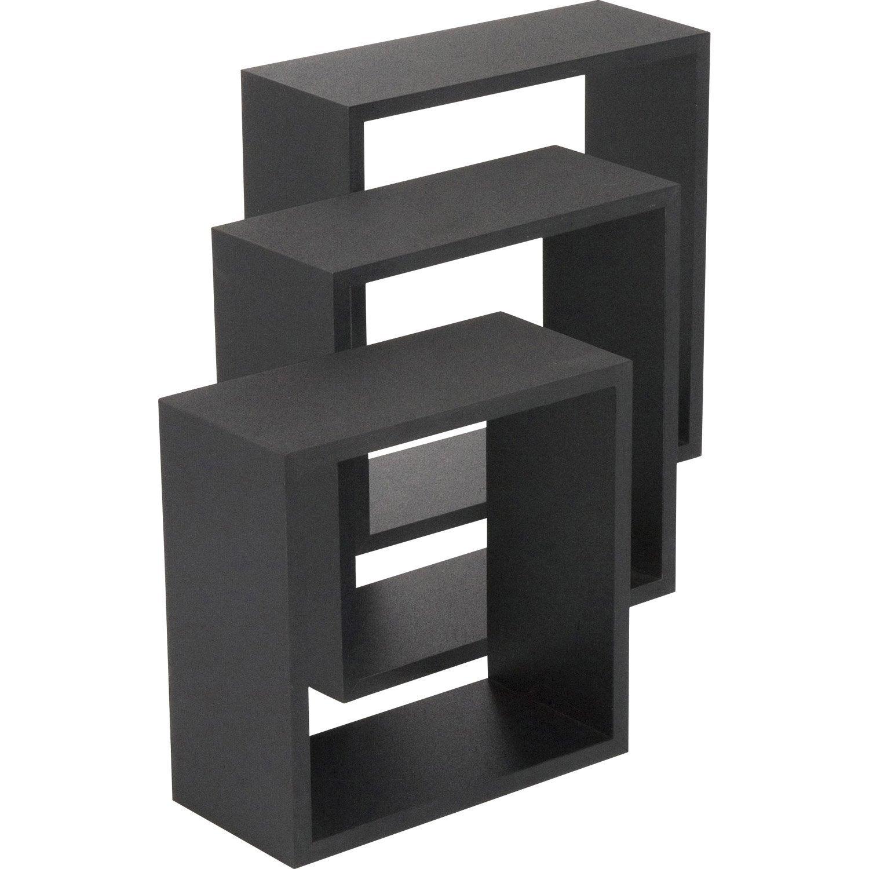 Etag re 3 cubes noir x cm mm leroy merlin - Plaque de marbre leroy merlin ...