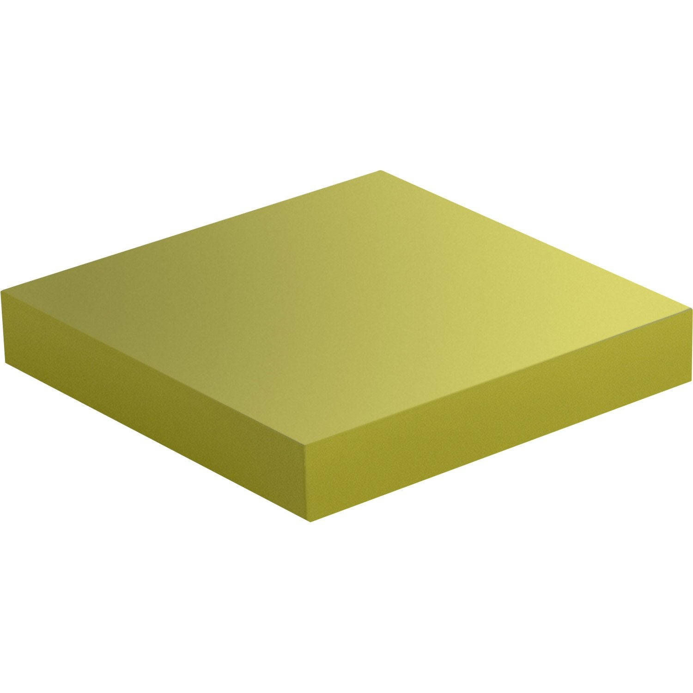 Etag re murale jaune anis n 3 color spaceo l 23 5 x p 23 - Leroy merlin etageres murales ...