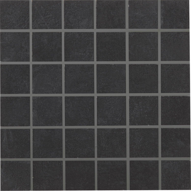 Mosa que sol et mur tresor noir 5 x 5 cm leroy merlin - Joint carrelage mosaique ...
