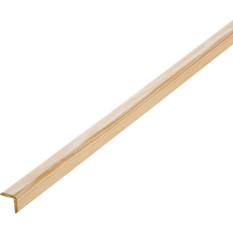baguette d 39 angle pin sans noeud 23 x 23 mm l 2 4 m leroy merlin. Black Bedroom Furniture Sets. Home Design Ideas