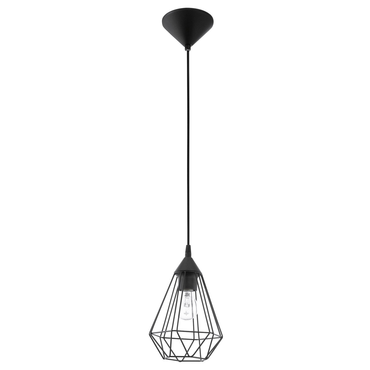Merveilleux Suspension Industrielle Leroy Merlin #2: Suspension, E27 Style Industriel Tarbes Métal Noir 1 X 60 W EGLO ...
