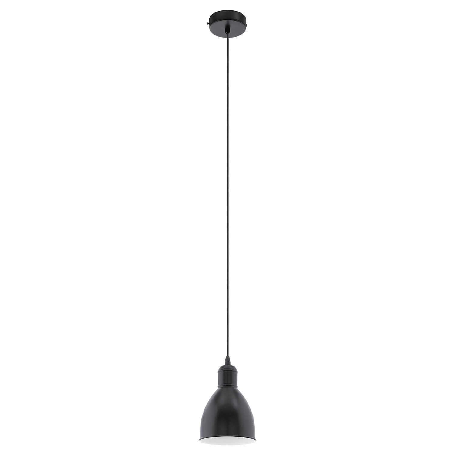 Suspension industriel priddy m tal noir 1 x 60 w eglo for Suspension metal cuisine