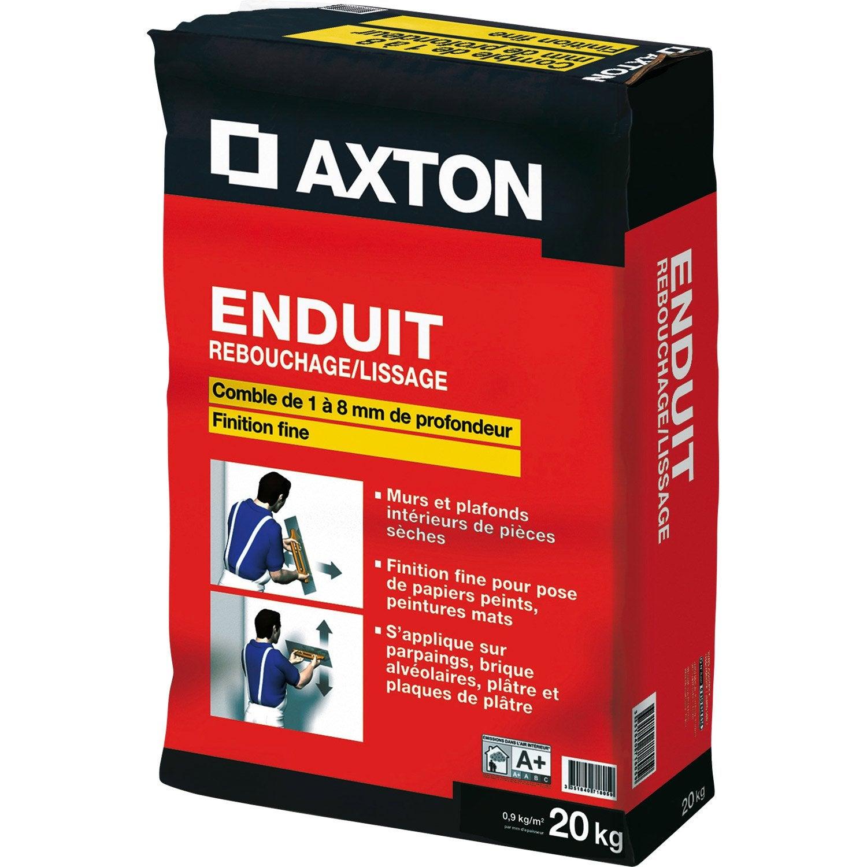 Enduit de rebouchage et lissage zm 136 axton 20 kg - Enduit de rebouchage exterieur leroy merlin ...