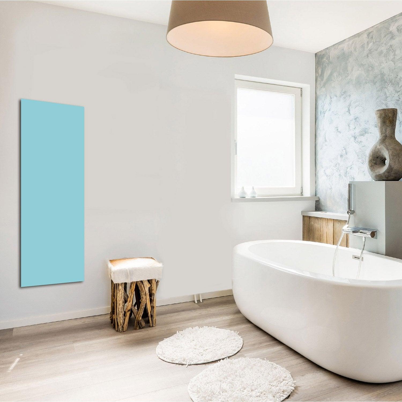 radiateur lectrique rayonnement decowatt bleu pastel 500 w leroy merlin. Black Bedroom Furniture Sets. Home Design Ideas