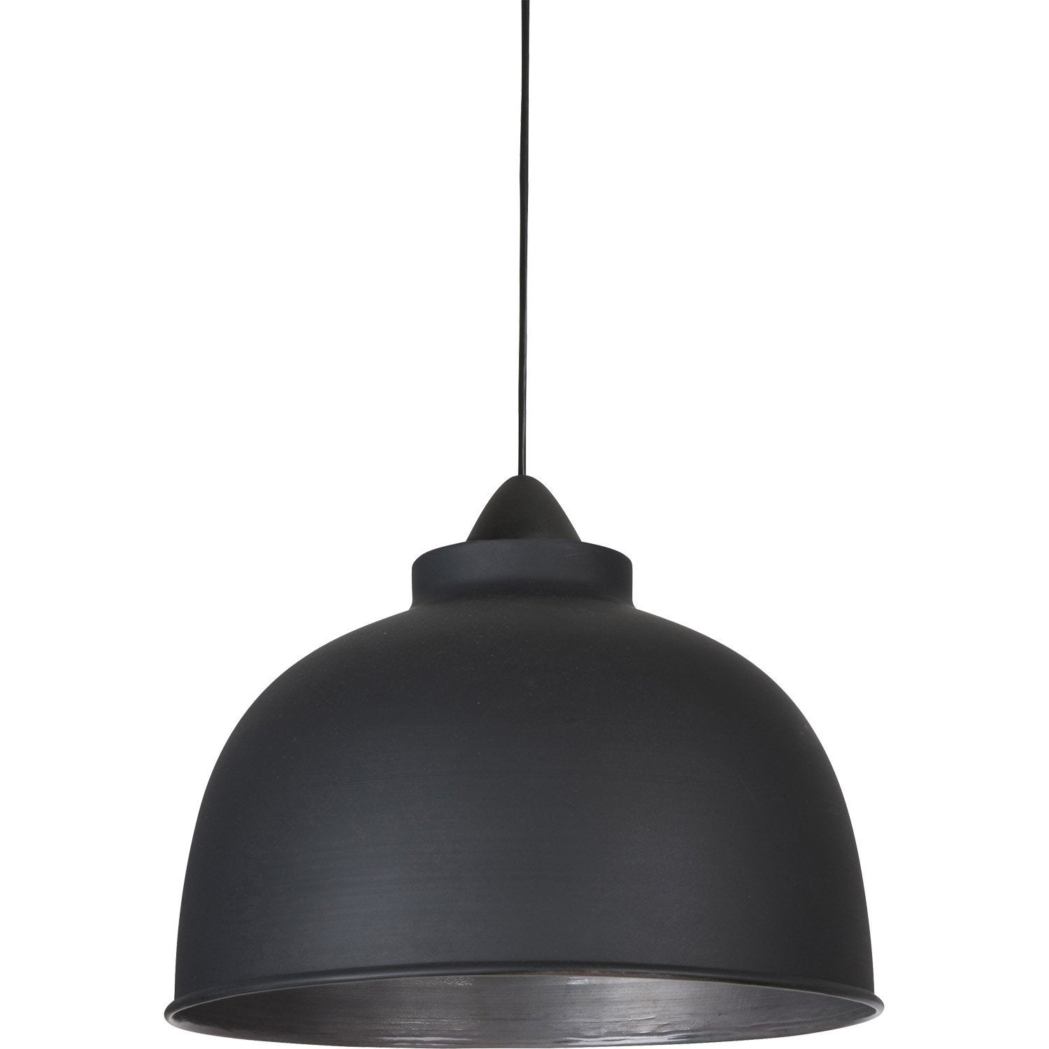 Suspension e27 style industriel little dock m tal noir for Lampe suspendu noir