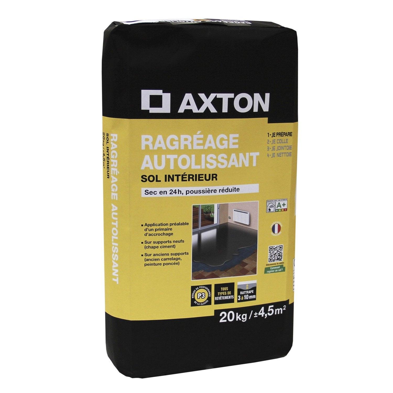 Ragr age autolissant axton 20 kg leroy merlin for Ragreage autolissant exterieur