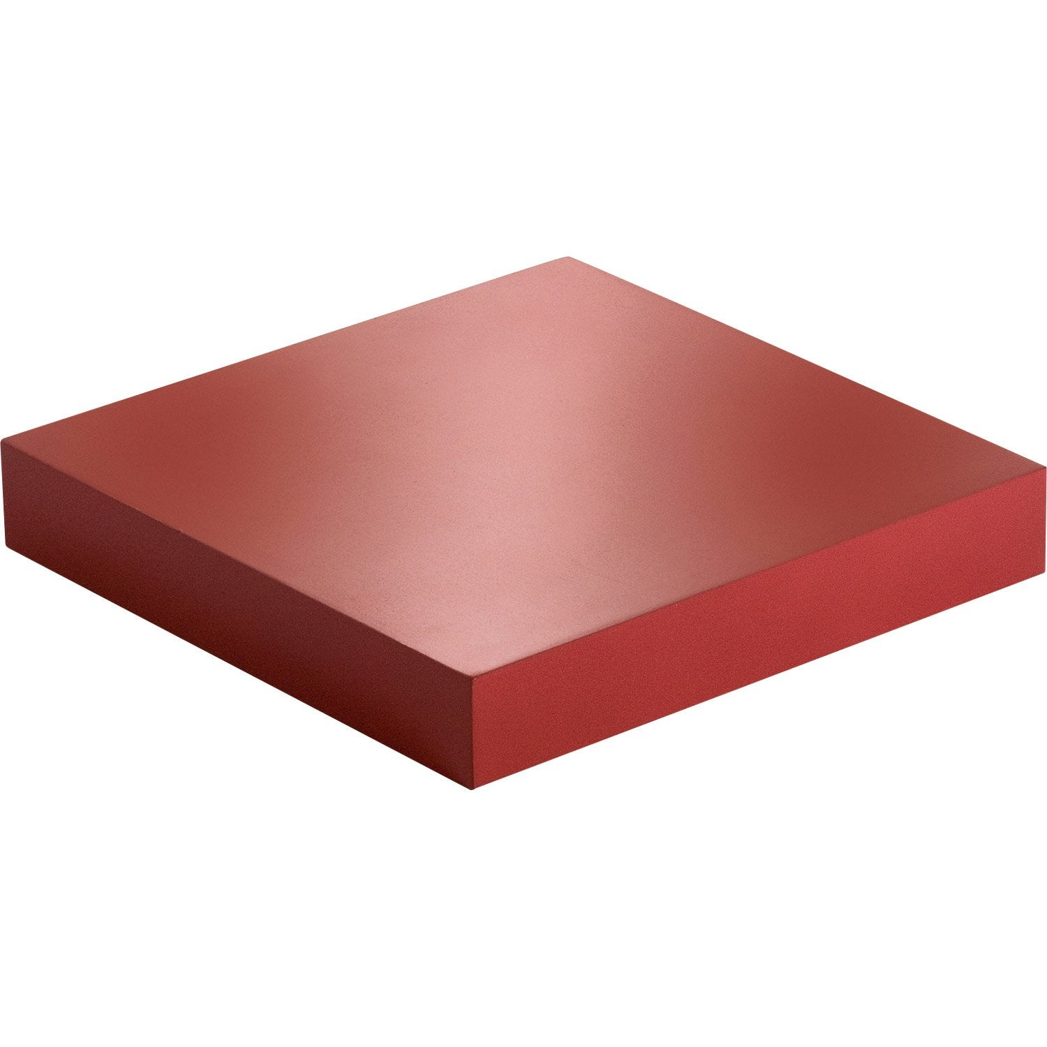 Etag re murale rouge rouge n 3 color spaceo l 23 5 x p 23 5 cm p 38 mm leroy merlin - Etagere murale rouge ...