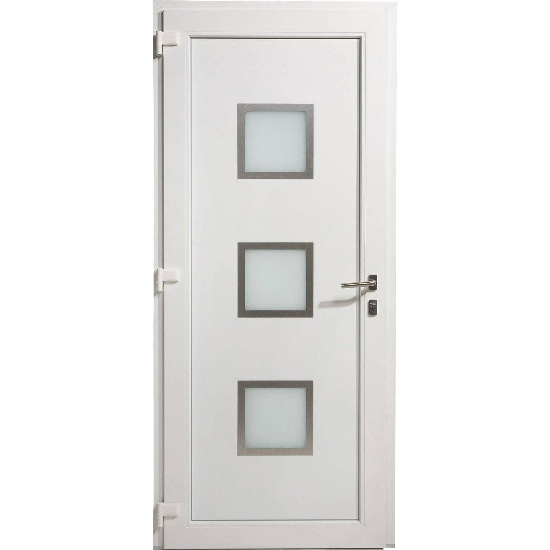Porte D 39 Entr E Pvc Arhus Excellence Poussant Gauche H215 X