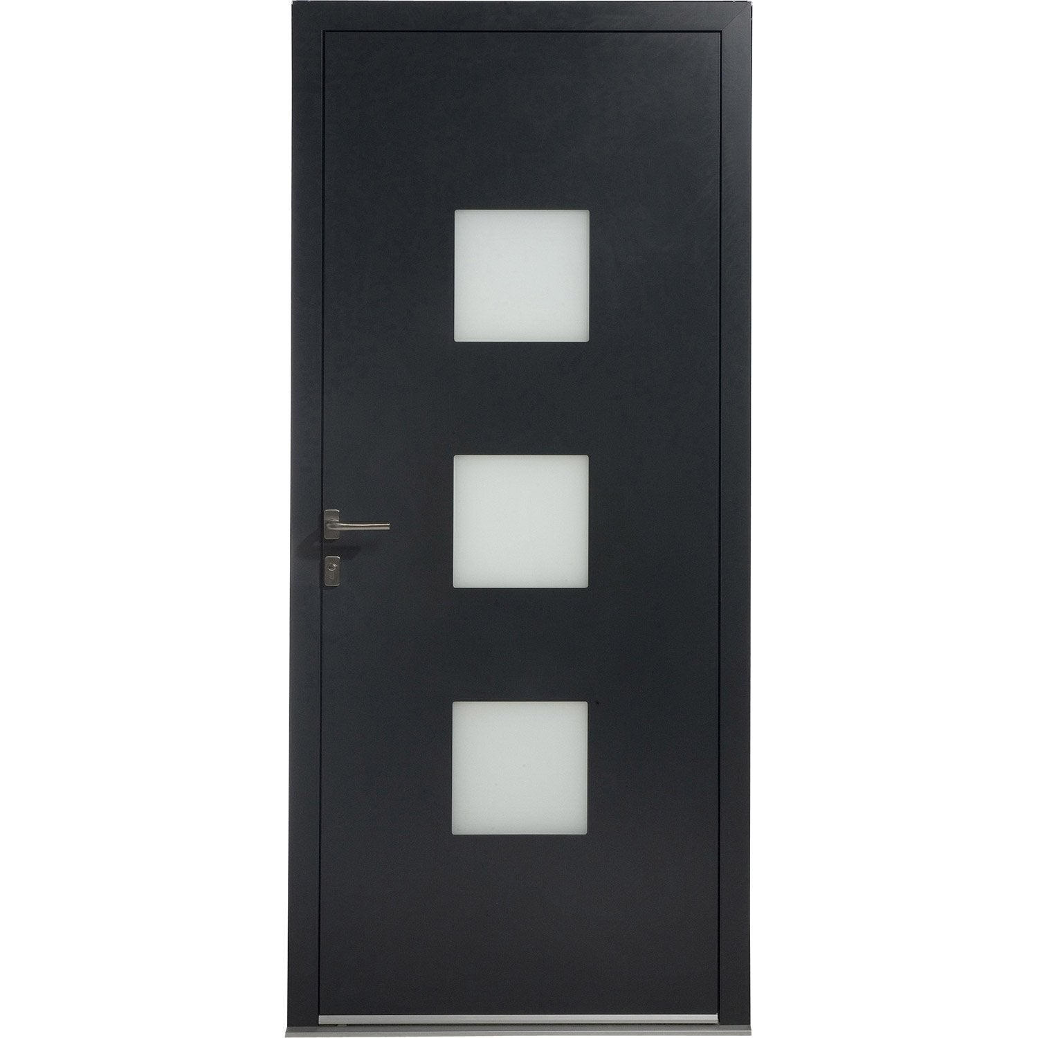 Porte d 39 entr e aluminium phenix excellence poussant droit for Rideau phonique porte d entree