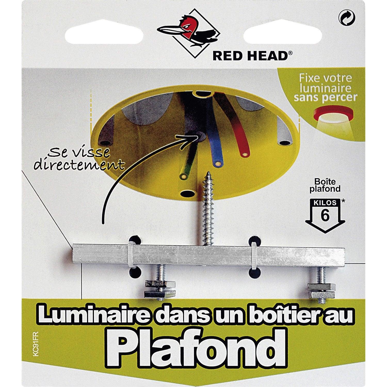 Kit chevilles visser luminaire red head leroy merlin - Installer un luminaire sur douille dcl ...