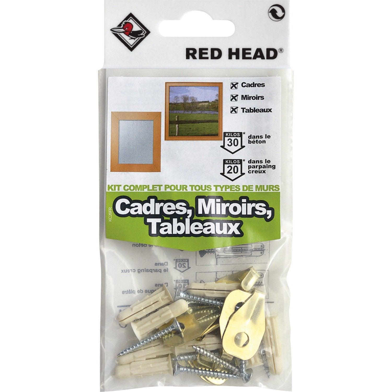 amazing kit chevilles expansion cadre miroir et tableau red fixation pour miroir lourd with. Black Bedroom Furniture Sets. Home Design Ideas