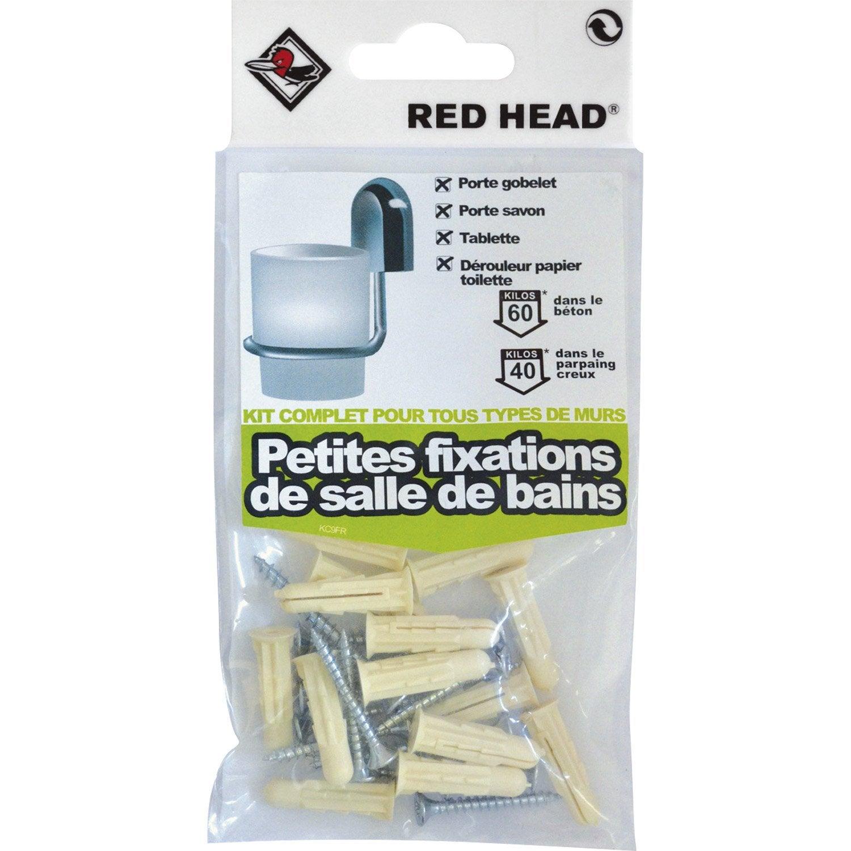 kit chevilles expansion salle de bain et cuisine red head diam 6 x mm leroy merlin. Black Bedroom Furniture Sets. Home Design Ideas
