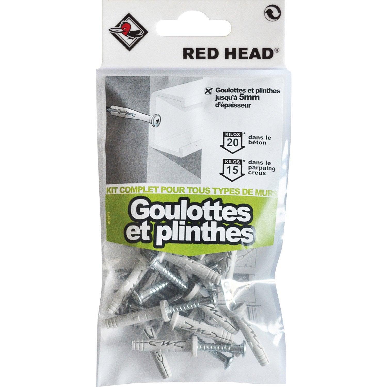 kit chevilles expansion goulotte et plinthe red head diam 5 x mm leroy merlin. Black Bedroom Furniture Sets. Home Design Ideas