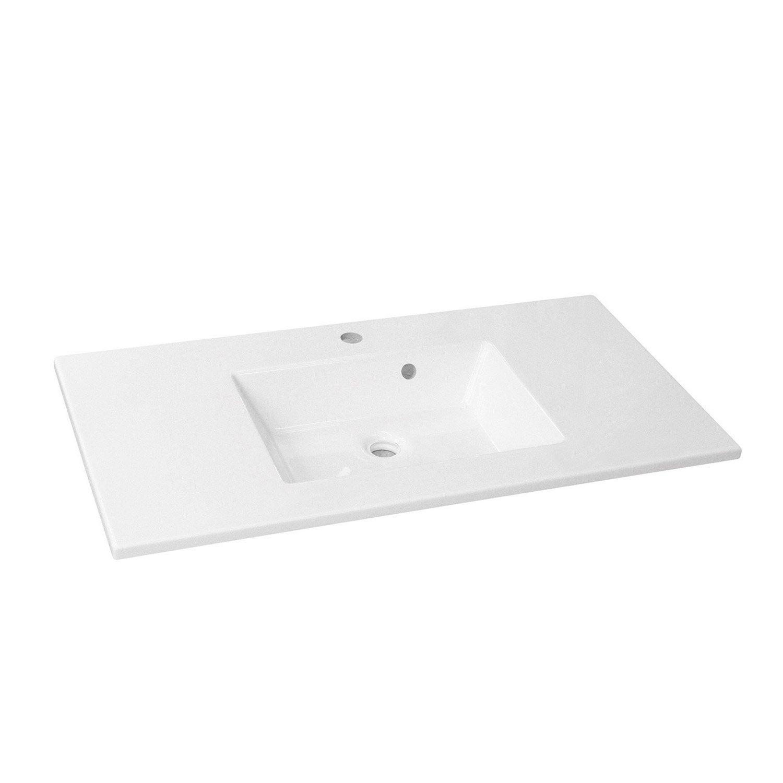 Plan vasque r sine 100 cm id es novatrices de la for Leroy merlin plan vasque