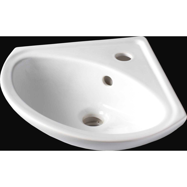 lave mains c 233 ramique angle blanc l 35 x p 35 cm sigma leroy merlin
