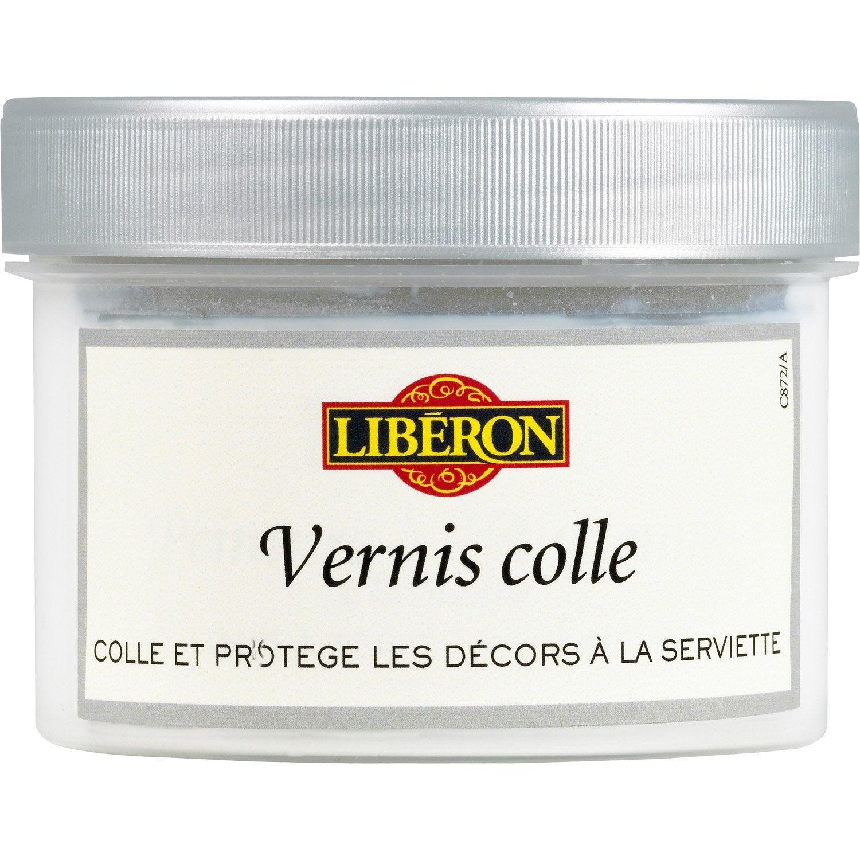 Vernis colle mat liberon vernis colle 0 5l lib ron incolore l leroy merlin for Produits liberon