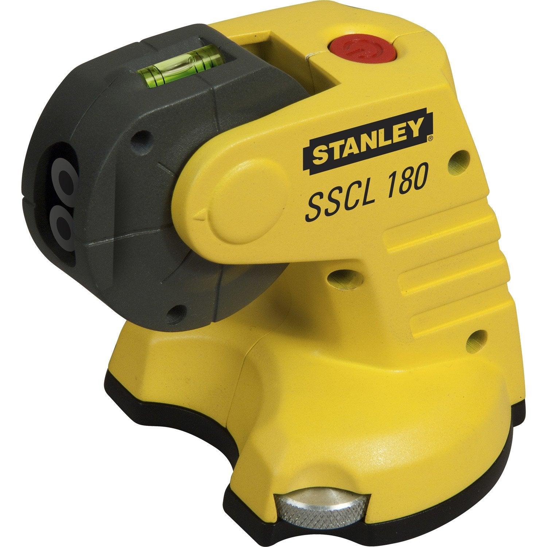 Niveau laser croix manuel t te rotative stanley sscl180 leroy merlin - Niveau laser croix cubix stanley ...