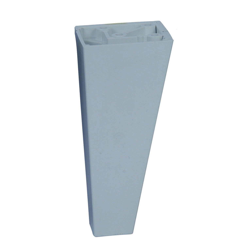 Pied de meuble conique fixe en plastique blanc 10cm leroy merlin - Leroy merlin pied meuble ...