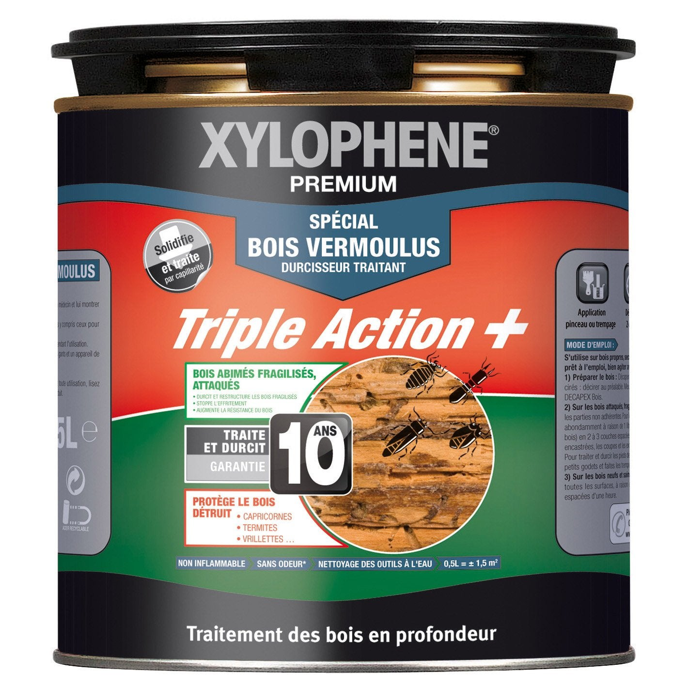 Trait bois vermoulu xylophene 0 5l leroy merlin - Xylophene leroy merlin ...