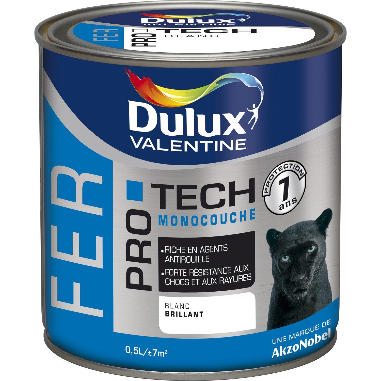 Peinture fer extérieur Protech DULUX VALENTINE, gris zinc, 0.5 l   Leroy Merlin