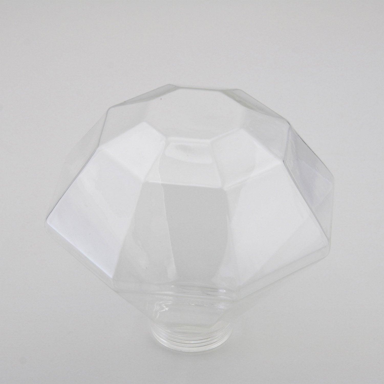 verre seul pour ampoule globe forme diamant lexman. Black Bedroom Furniture Sets. Home Design Ideas