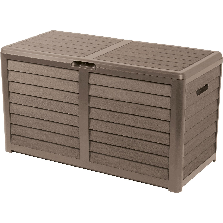 coffre de jardin r sine baya brun taupe x x cm leroy merlin. Black Bedroom Furniture Sets. Home Design Ideas