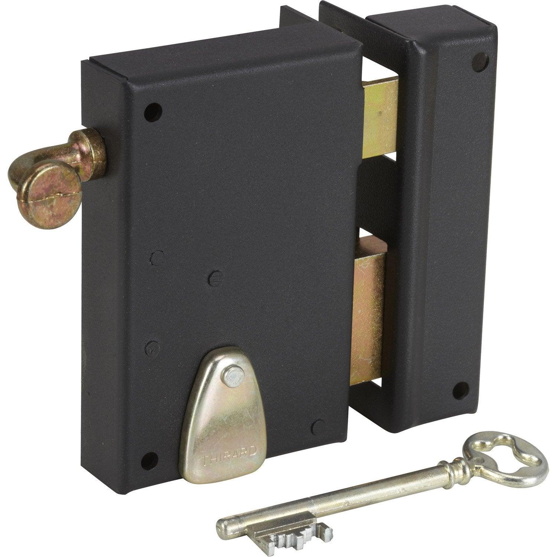 serrure en applique thirard axe 40 mm tirage ouverture droite leroy merlin. Black Bedroom Furniture Sets. Home Design Ideas