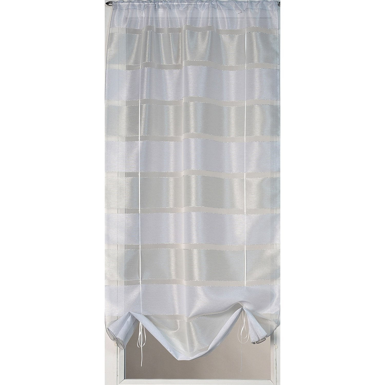 vitrage nacre argent x cm leroy merlin. Black Bedroom Furniture Sets. Home Design Ideas