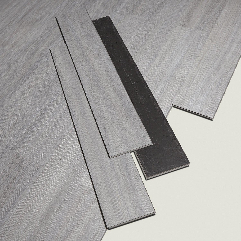 lame pvc clipsable gris effet bois camden artens leroy merlin. Black Bedroom Furniture Sets. Home Design Ideas