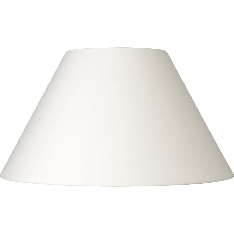 abat jour sweet 60 cm coton blanc inspire leroy merlin. Black Bedroom Furniture Sets. Home Design Ideas