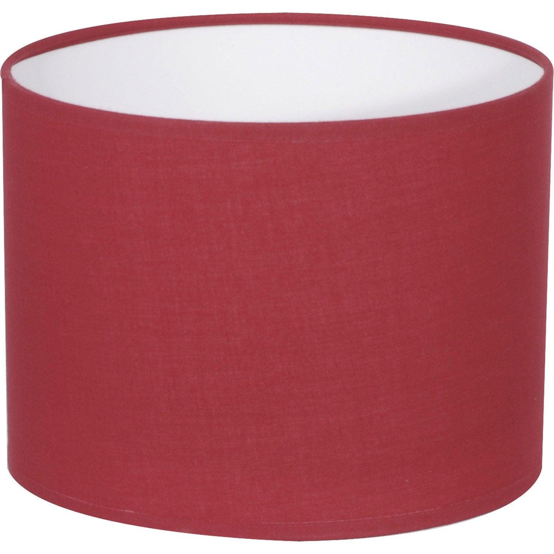 abat jour tube 40 cm coton rouge rouge n 5 inspire. Black Bedroom Furniture Sets. Home Design Ideas