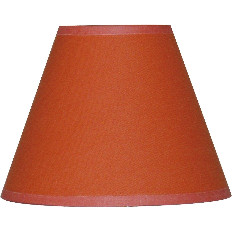 Abat jour sweet 14 cm coton orange leroy merlin - Abat jour cm ...
