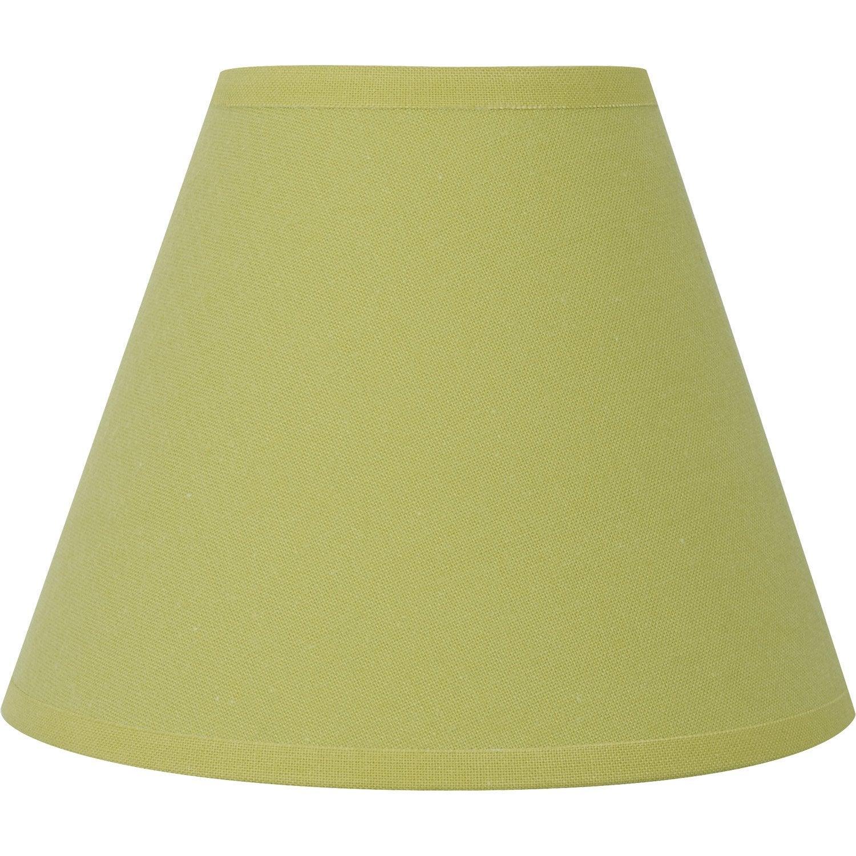 abat jour sweet 14 cm coton anis inspire leroy merlin. Black Bedroom Furniture Sets. Home Design Ideas