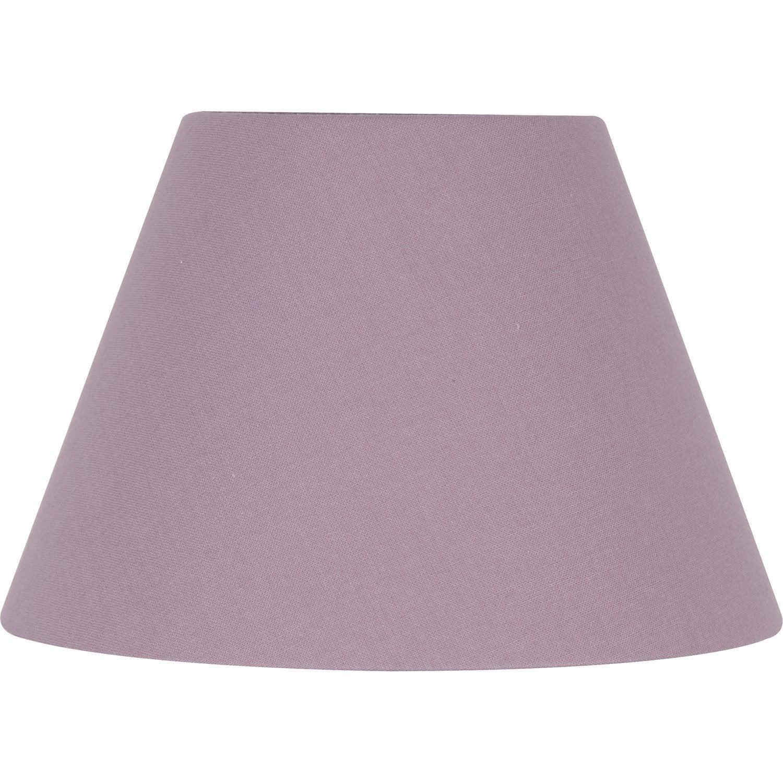 abat jour sweet 22 cm coton guimauve leroy merlin. Black Bedroom Furniture Sets. Home Design Ideas
