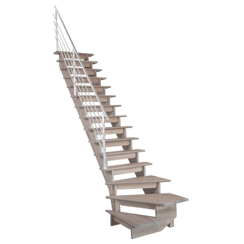 Escalier auvergne structure bois marche bois leroy merlin - Marche pied bois leroy merlin ...