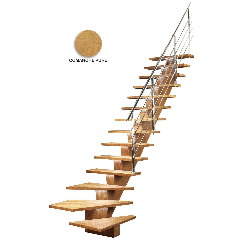 escalier quart tournant bas droit kalea m dium mdf. Black Bedroom Furniture Sets. Home Design Ideas