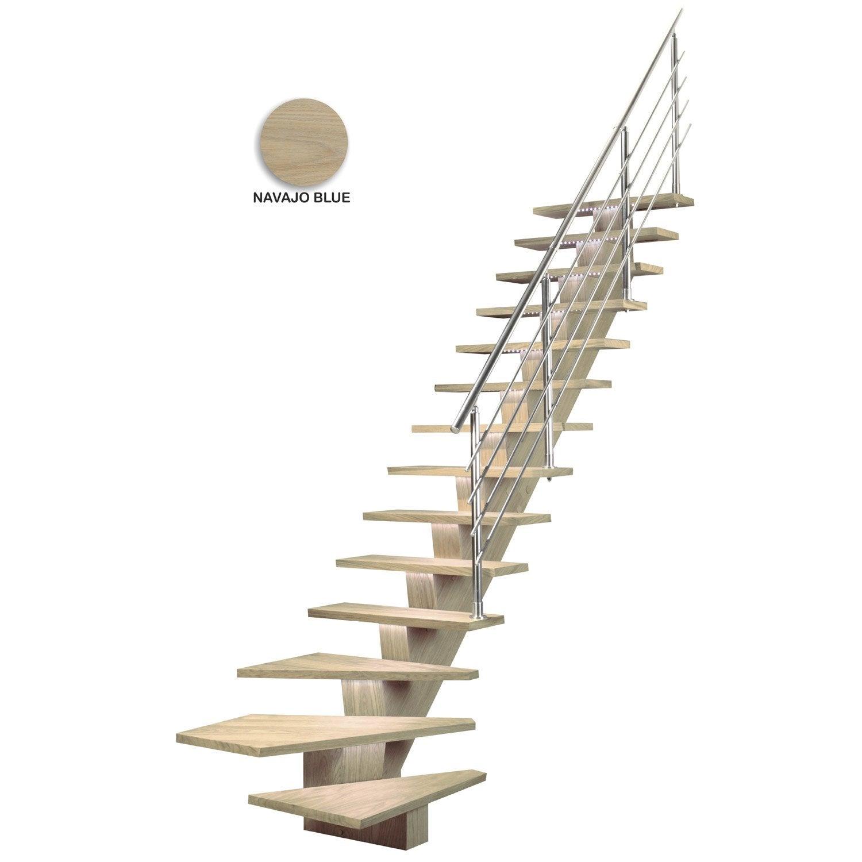 Escalier quart tournant bas gauche kalea m dium mdf for Escalier 2 quart tournant leroy merlin