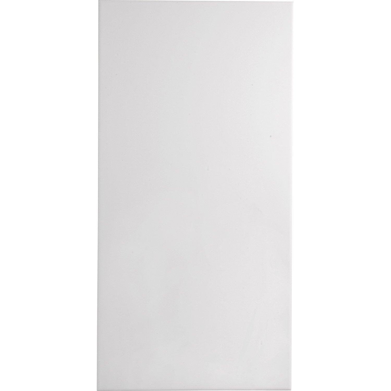 Carrelage mur blanc hawa x cm leroy merlin for Carrelage blanc