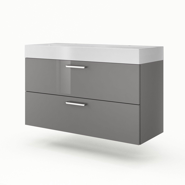 meuble vasque gris neo line leroy merlin. Black Bedroom Furniture Sets. Home Design Ideas