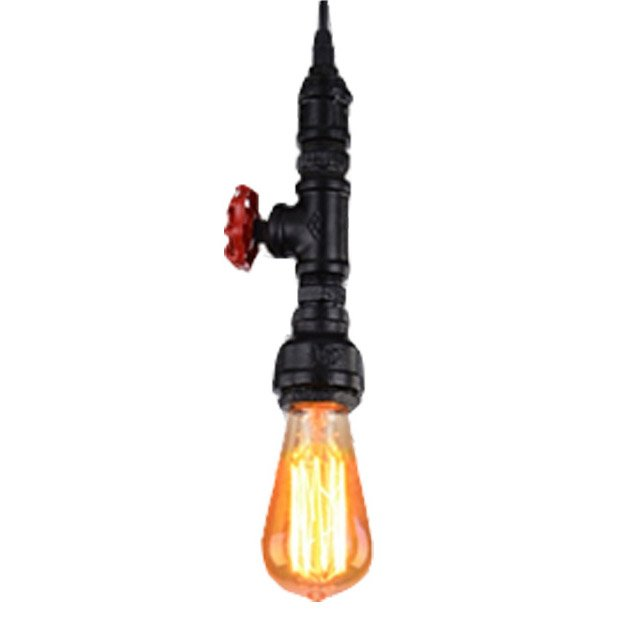 Suspension e27 style industriel robin m tal noir 1 x 60 w sampa helios ler - Suspension type industriel ...