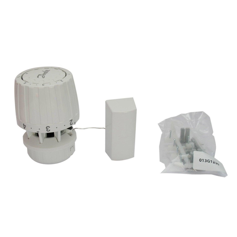 bulbe distance thermostatique m le femelle laiton blanc danfoss leroy merlin. Black Bedroom Furniture Sets. Home Design Ideas