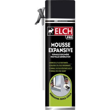 mousse expansive power 500 ml elch leroy merlin. Black Bedroom Furniture Sets. Home Design Ideas
