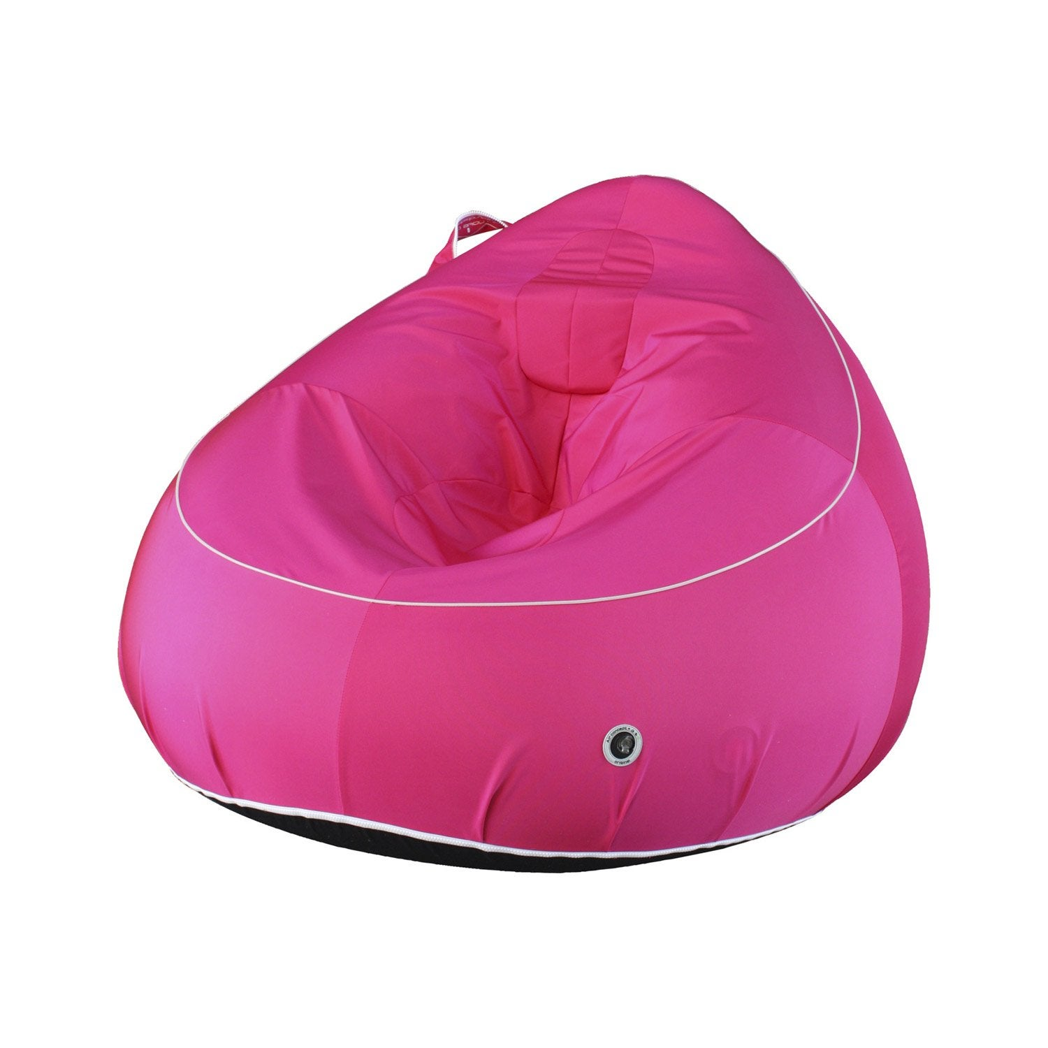 pouf en forme de fauteuil my note deco uni fuchsia. Black Bedroom Furniture Sets. Home Design Ideas