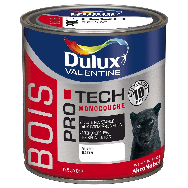 Peinture bois ext rieur protech dulux valentine noir 0 5 l leroy merlin for Peinture pvc exterieur ral