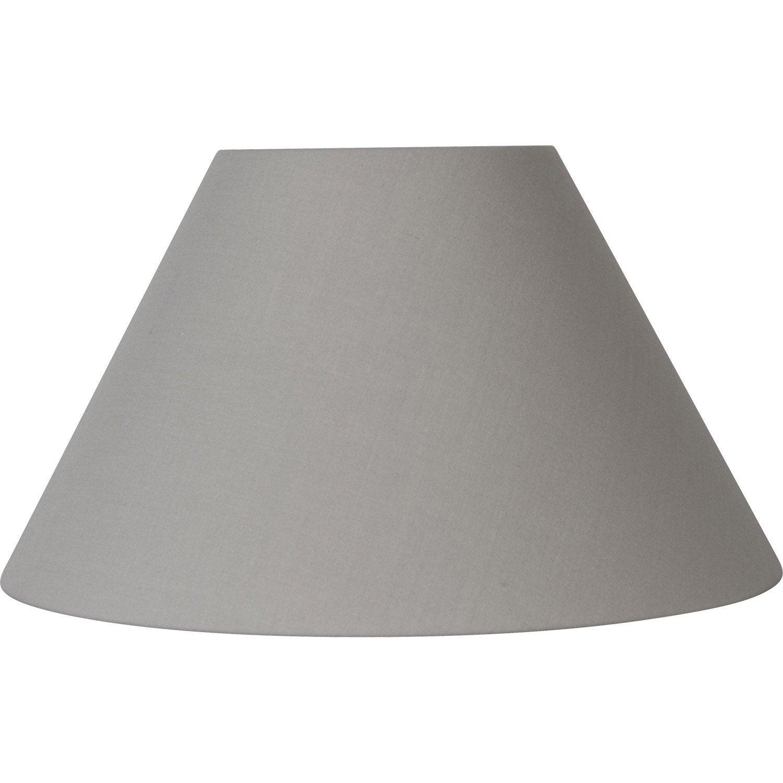 abat jour sweet 50 cm coton ciment leroy merlin. Black Bedroom Furniture Sets. Home Design Ideas