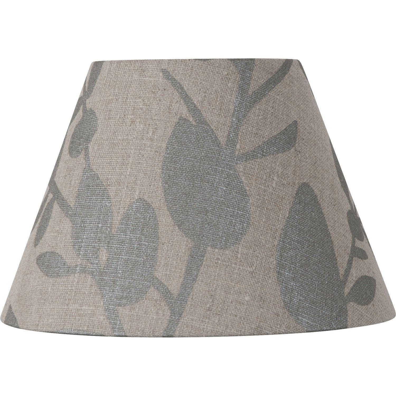 abat jour sweet 25 cm lin taupe leroy merlin. Black Bedroom Furniture Sets. Home Design Ideas